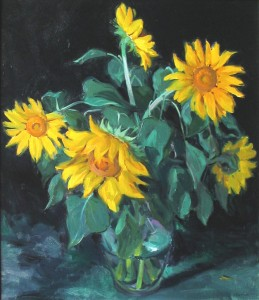 Sunflowers in the Studio